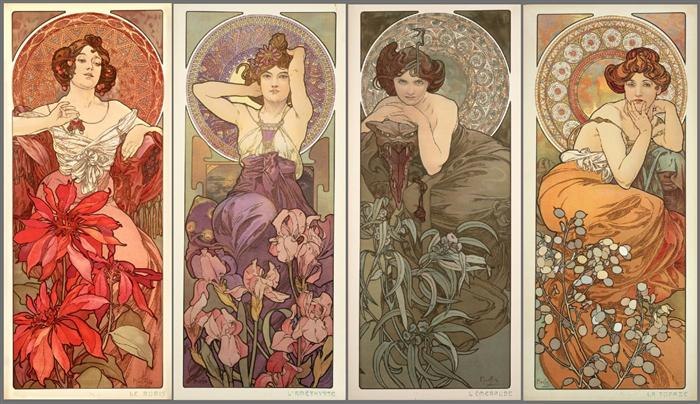 Alfons Mucha – Paintings and Drawings