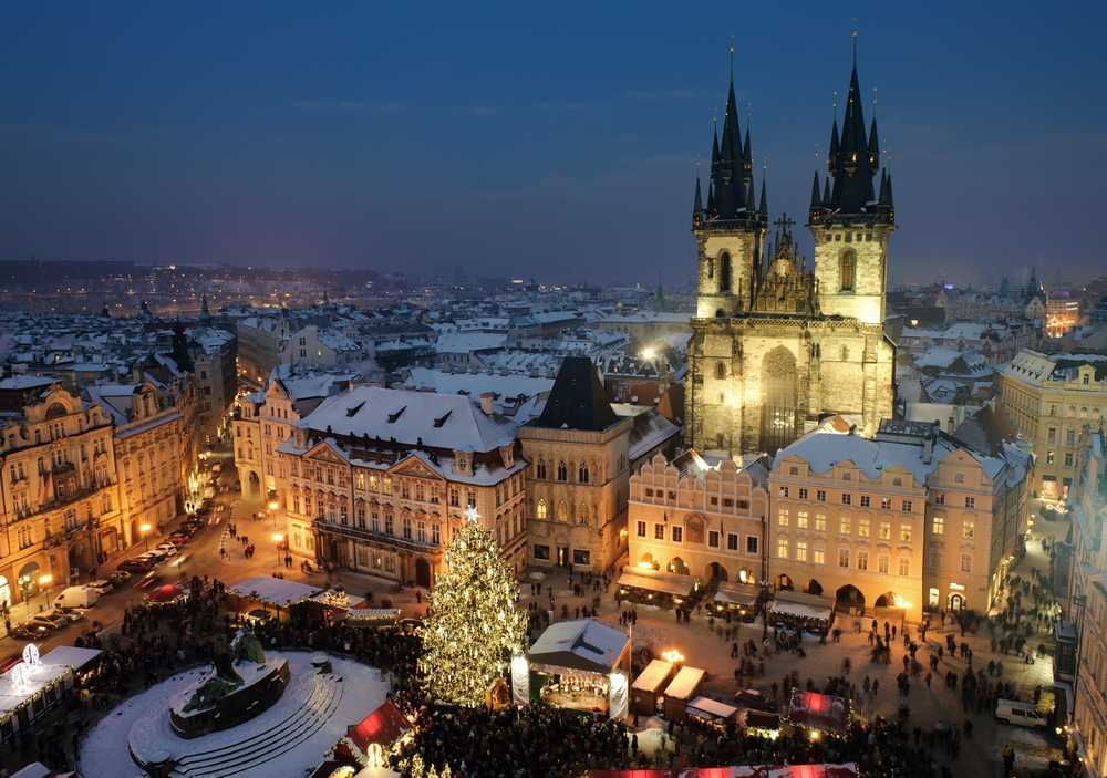 Visit the Prague Christmas market on a day trip from Bratislava